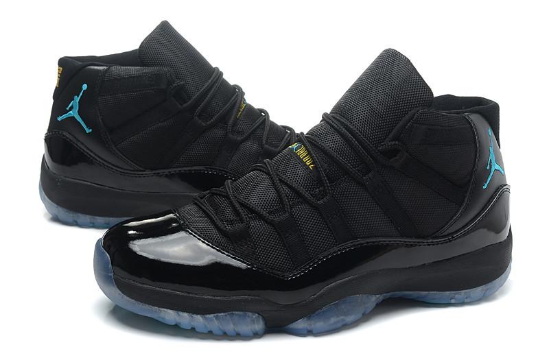 Кроссовки мужские JORDAN 11 RETRO Black/Blue Черно-синие