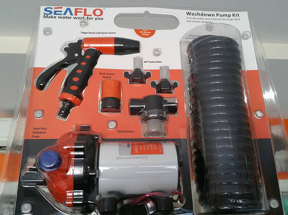 Промивний комплект Seaflo для очищення палуби судна, якірних ланцюгів, гумового човна, фото 2