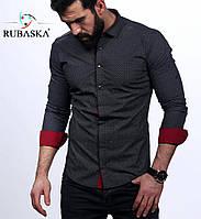 Серая мужская рубашка оптом и в розницу