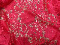 Ажурная ткань гипюр (красный)