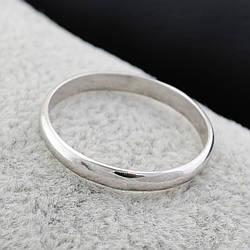Серебряное Обручальное кольцо, размер 19, серебро 1.6 г