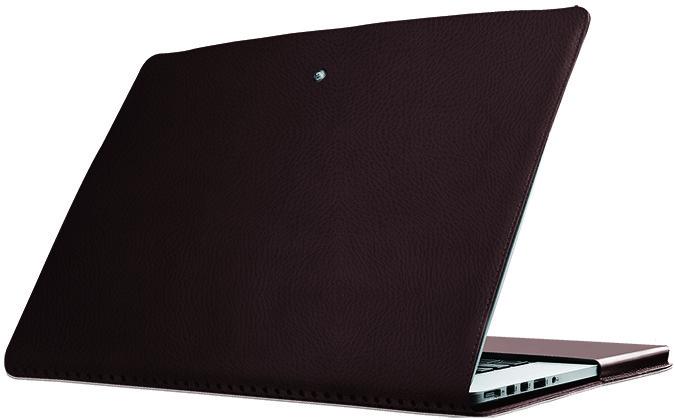 Легкий защитный кожаный чехол для MacBookPro Promate MacLine-Pro15 Brown