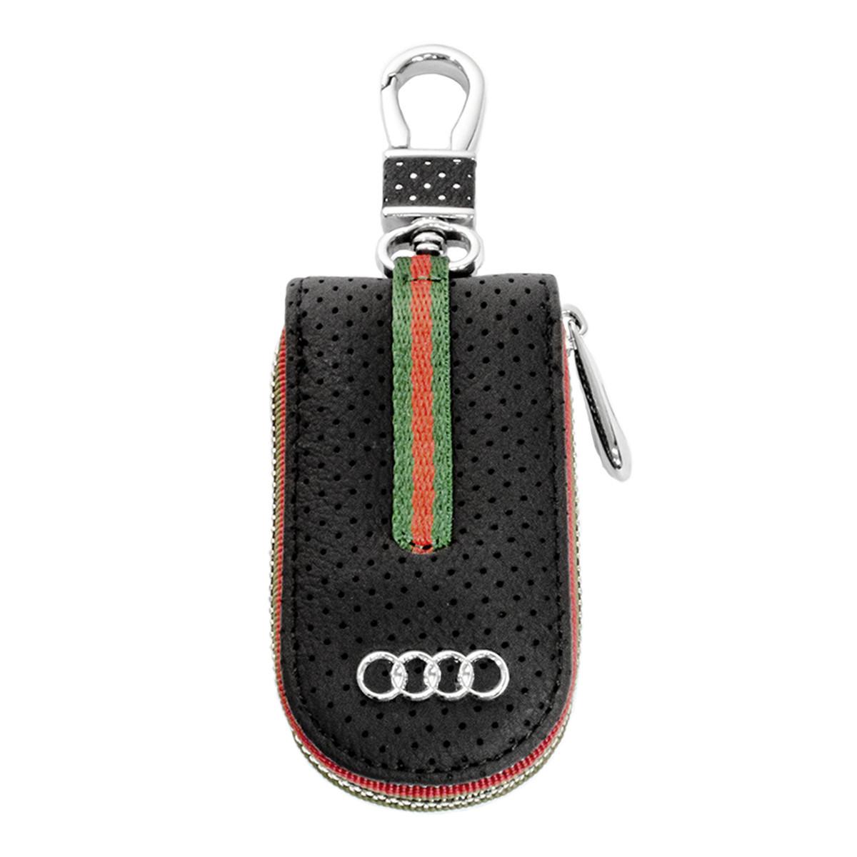 Ключница Carss с логотипом AUDI 01007 черная
