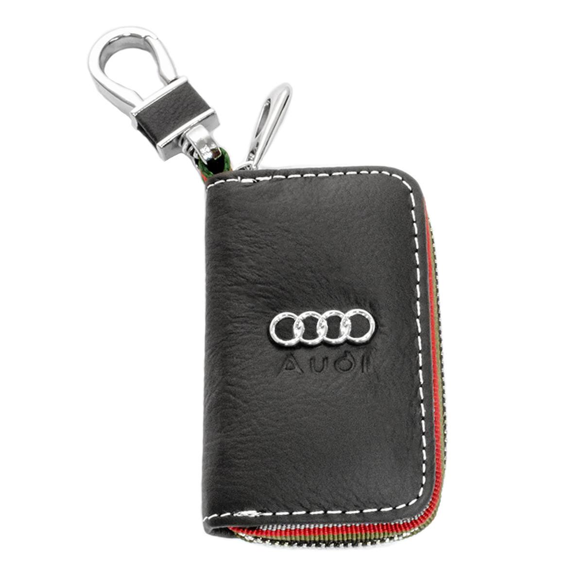 Ключница Carss с логотипом AUDI 01006 черная