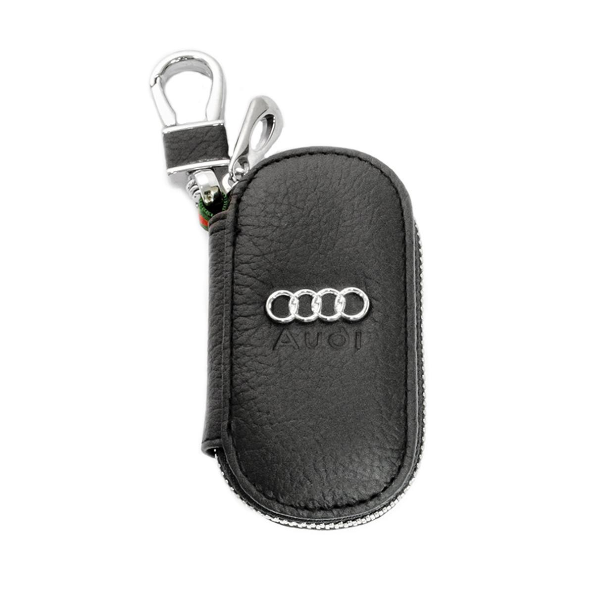 Ключниця Carss з логотипом AUDI 01003 чорна
