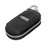 Ключниця Carss з логотипом AUDI 01003 чорна, фото 3