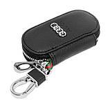 Ключниця Carss з логотипом AUDI 01003 чорна, фото 4