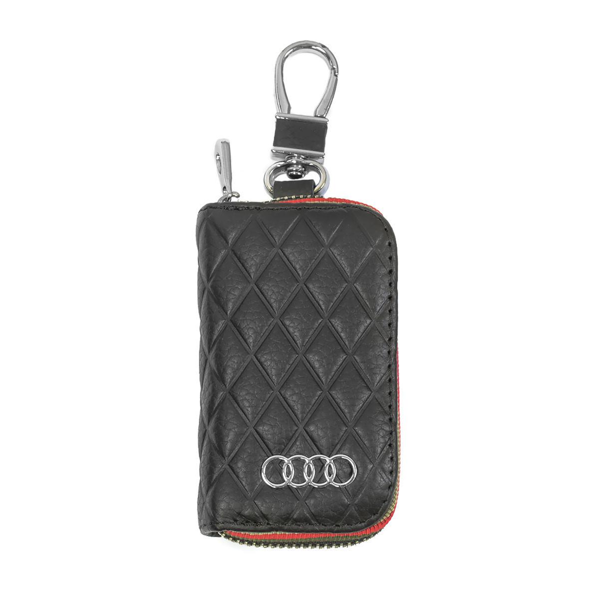 Ключница Carss с логотипом AUDI 01009 черная