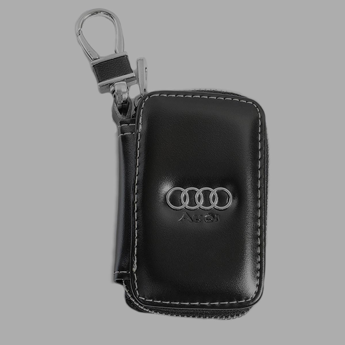 Ключница Carss с логотипом AUDI 01011 черная