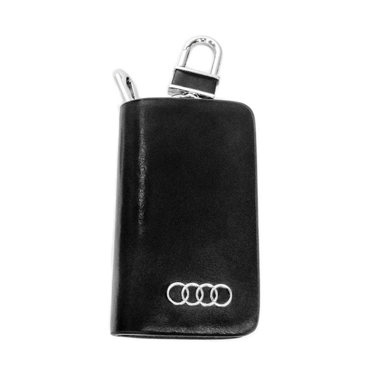 Ключница Carss с логотипом AUDI 01002 черная