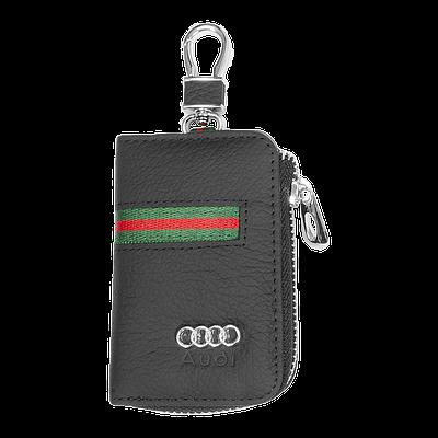 Ключница Carss с логотипом AUDI 01012 многофункциональная черная