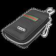 Ключница Carss с логотипом AUDI 01012 многофункциональная черная, фото 5
