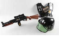Полицейский набор - автомат, каска, бронежилет