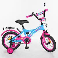 Детский двухколесный велосипед PROFI 14 дюймов, T1464 Original girl