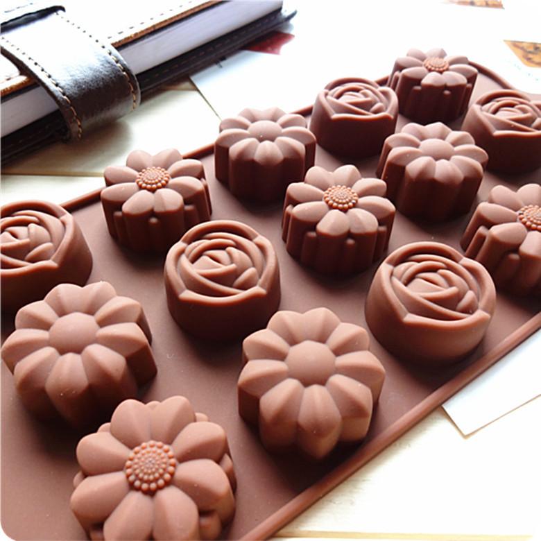 Форма для шоколада Роза Ромашка Цветы