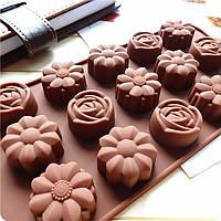 Форма для шоколада Роза Ромашка Цветы, фото 1