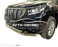 Дуга нижнего бампера двойная Toyota Prado 150 2018-...