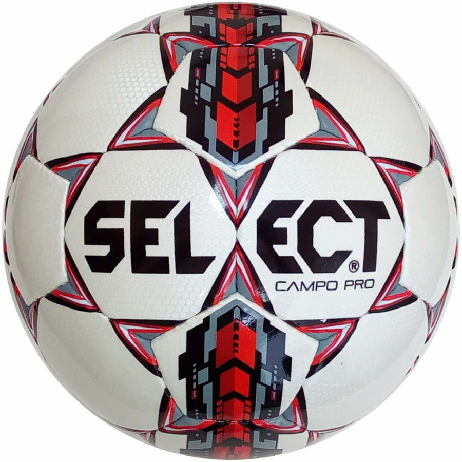 Футбольный мяч Select Campo Pro бело-красный размер 4