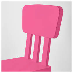 МАММУТ Детский стул, д/дома/улицы, розовый, 80382321, IKEA, ИКЕА, MAMMUT