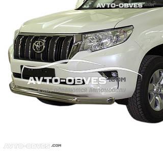 Защита переднего бампера одинарная Toyota Prado 150 2018-... (Tamsan)