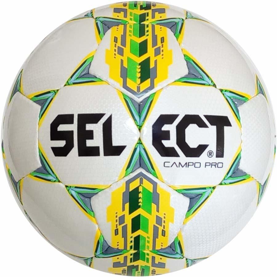 Футбольный мяч Select Campo Pro бело-зеленый размер 3