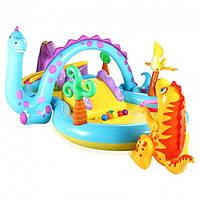 Надувной детский игровой центр бассейн Intex 57135 NP планета динозавров