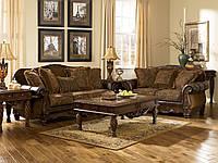 """Диван 3-ка, диван 2-ка, крісло шкіряне, пуф, колекція """"Fresco Durablend"""" Ashley"""