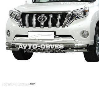 Защита переднего бампера Toyota Prado 150