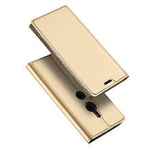 Чехол книжка Dux Ducis Skin Pro для Sony Xperia XZ2 золотистый