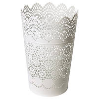 СКУРАР Фонарь для формовой свечи, белый, 22 см, 40236044, IKEA, ИКЕА, SKURAR