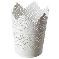 СКУРАР Подсвечник для греющей свечи, белый, 11 см, 60236043, IKEA, ИКЕА, SKURAR