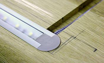 Комплект. Профіль для світлодіодної стрічки врізний 7х16 мм. ЛПВ7. Матовий. Анодований., фото 3