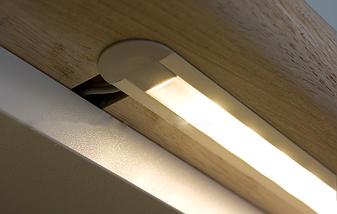Комплект. Профіль для світлодіодної стрічки врізний 7х16 мм. ЛПВ7. Матовий. Анодований., фото 2