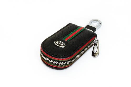 Ключница Carss с логотипом KIA 05007 черная