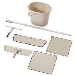 СКВАЛЬПА Набор для уборки/плоская швабра,7 предметов, бежевый, 60313121, IKEA, ИКЕА, SKVALPA