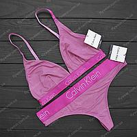 Оригинальное нижнее  белье-купальник 2в1 Calvin Klein (розовый)