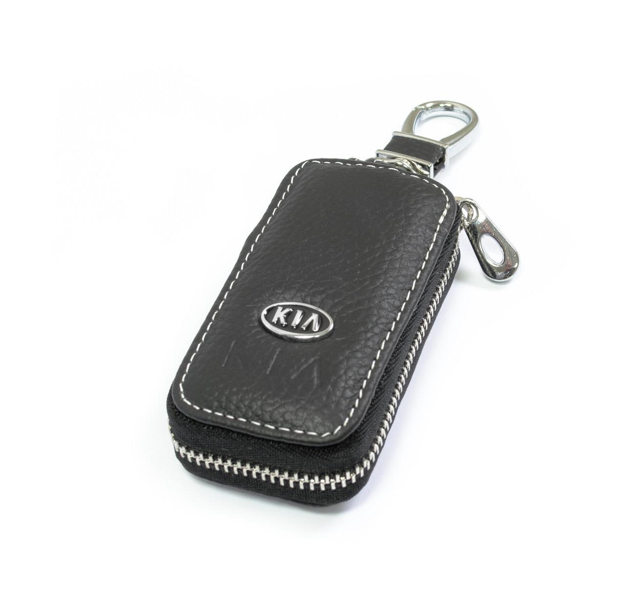 Ключница Carss с логотипом KIA 05010 черная