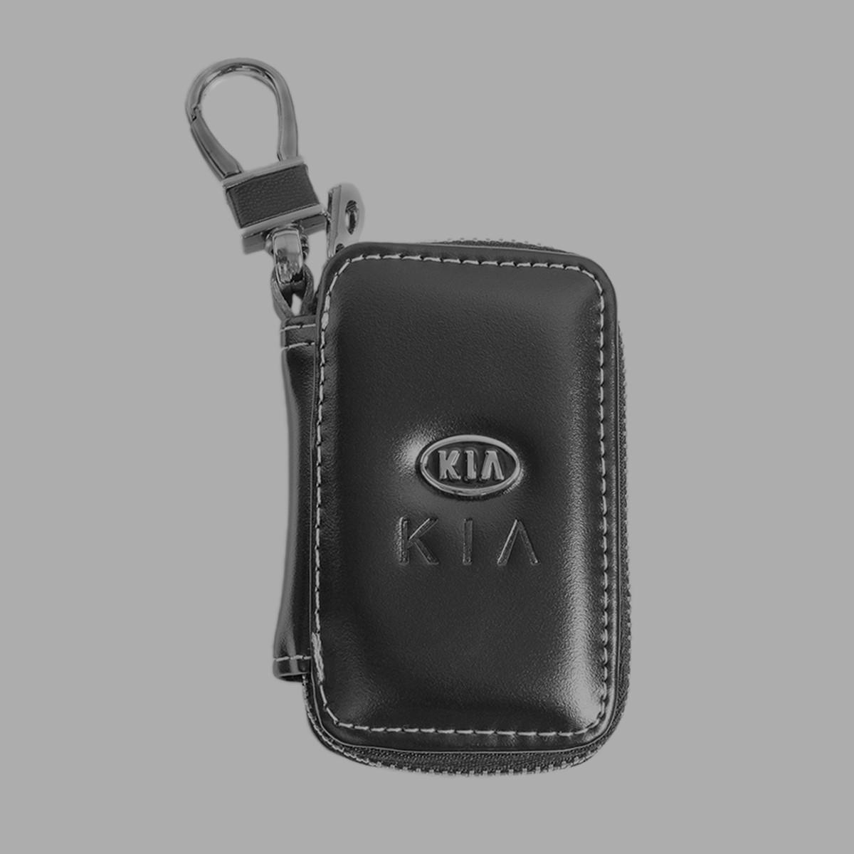 Ключница Carss с логотипом KIA 05011 черная