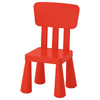 МАММУТ Детский стул, для дома/улицы, красный, 40365366, IKEA, ИКЕА, MAMMUT