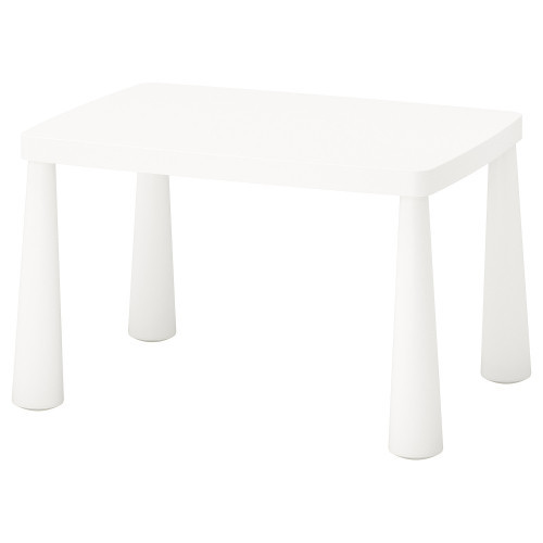 МАММУТ Стол детский, для дома/улицы, белый, 77x55 см, 50365177, IKEA, ИКЕА, MAMMUT