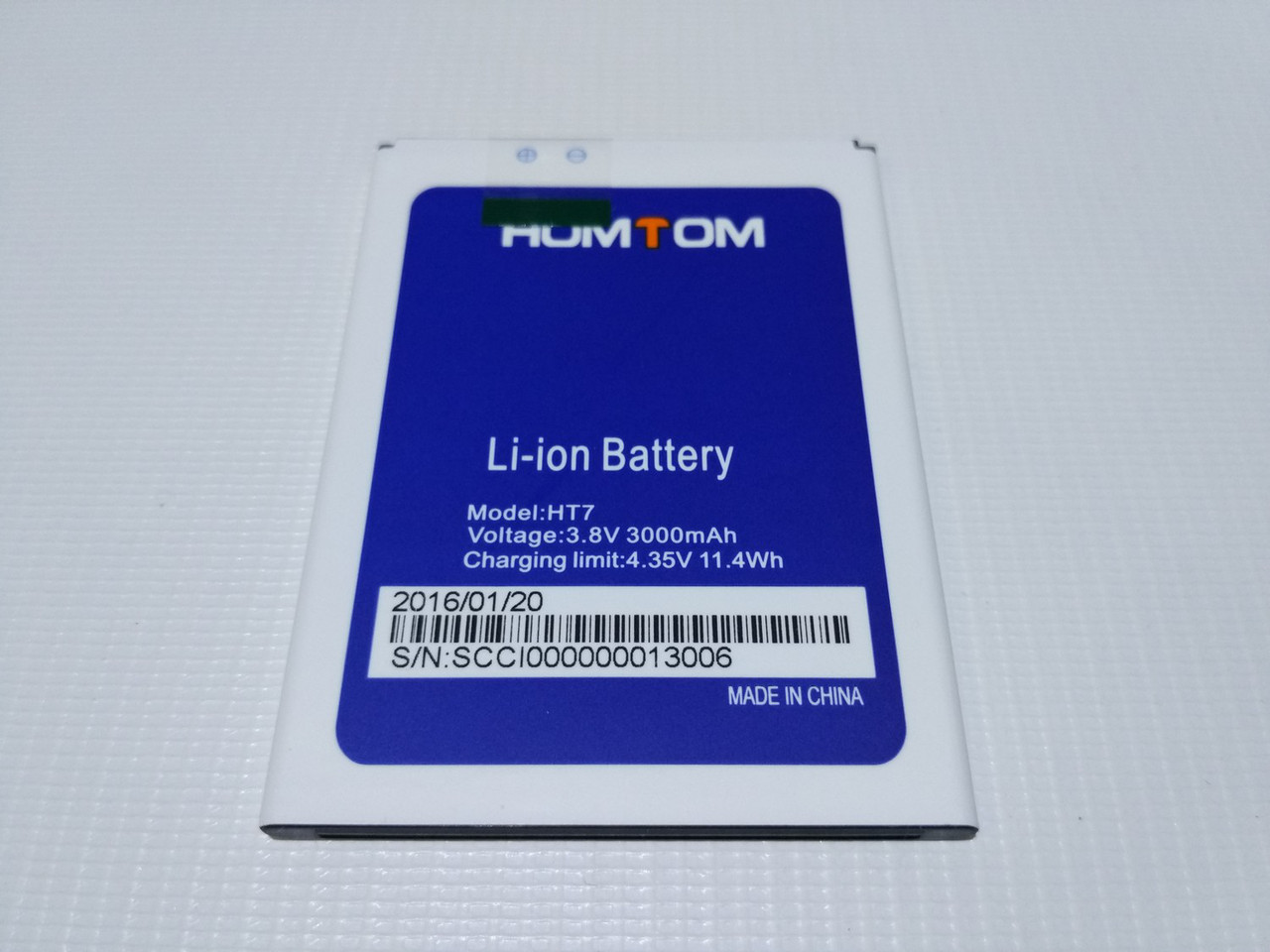 Оригинальная батарея аккумулятор для Homtom HT7, HT7 Pro, Ergo A550 Ma