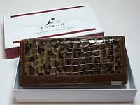 Кошелек женский, кожа, коричневый, размер  18,5х8,5 см,