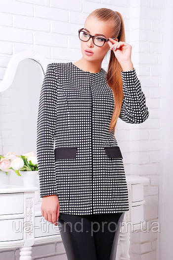 Серый пиджак в стиле Шанель
