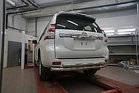 Защита заднего бампера Toyota Land Cruiser 150 (2009- /2014- / 2017-) (двойная) d 76/60