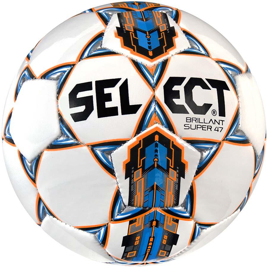 Детский футбольный мяч Select Brillant Super mini (47 cm), бело-синий