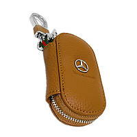 Ключница Carss с логотипом MERCEDES 02001 коричневая