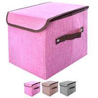 Ящик для хранения вещей 29*19*25 см ПВХ