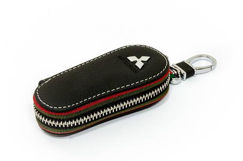 Ключница Carss с логотипом MITSUBISHI 11005 черная