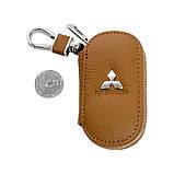 Ключница Carss с логотипом MITSUBISHI 11001 коричневая, фото 6
