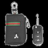 Ключница Carss с логотипом MITSUBISHI 11012 многофункциональная черная, фото 5